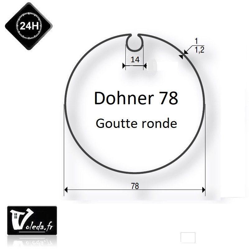 Bagues moteur volet roulant Simu-Somfy - Dohner 78 Goutte 14