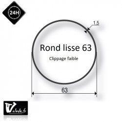 Bague adaptation moteur Somfy LT50 rond lisse 63x1,5mm - clippage faible