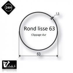Bague adaptation moteur Somfy LT60 rond lisse 63x1,5 - clippage dur