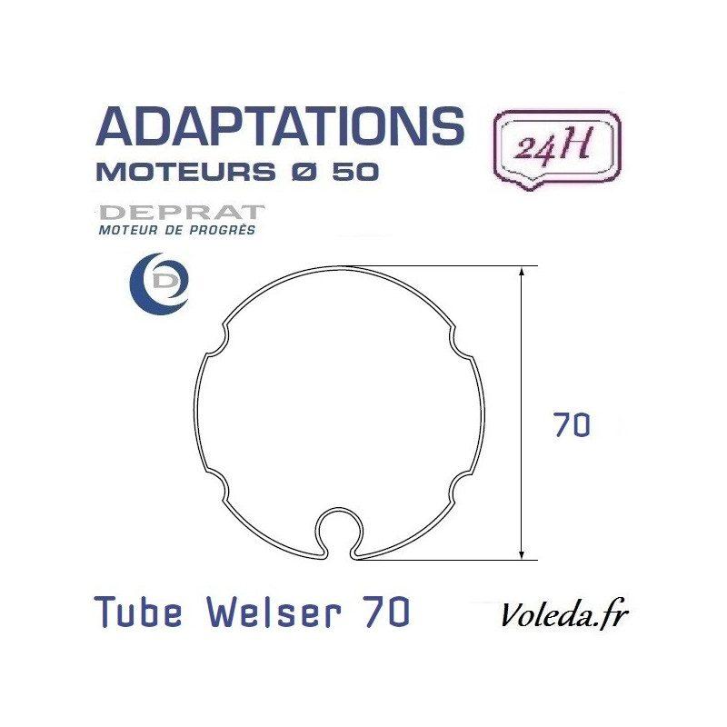 Bague adaptation moteur Deprat tube Welser 70