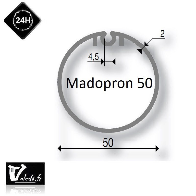 Bagues moteur volet roulant Simu T3.5 - Madopron 50