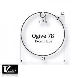 Bagues adaptation moteur Came 55 mm - Ogive 78