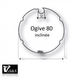 Bagues adaptation moteur Came 55 mm - Ogive inclinee 80