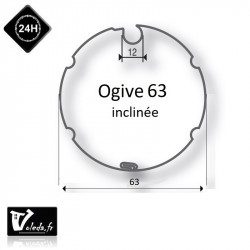 Bagues adaptation moteur Came 45 mm - Ogive inclinee 63