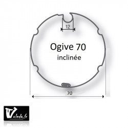 Bagues adaptation moteur Came 45 mm - Ogive inclinee 70