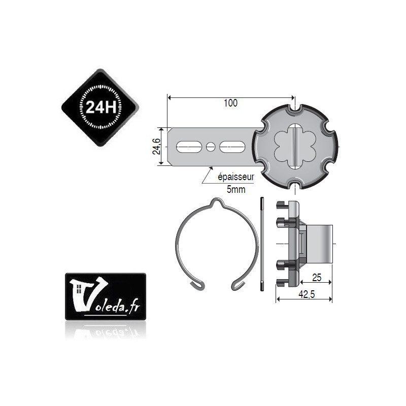 Support moteur Somfy - à visser avec déport de 20mm