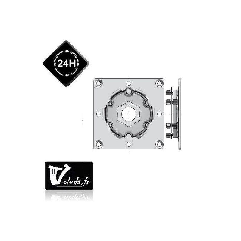 Plaque support moteur Somfy à visser ø50/ø60
