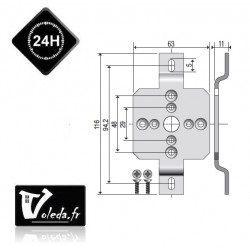 Support moteur Somfy ø50 pour caisson ZF