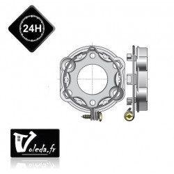 Support moteur Somfy universel tarraudé - anneau verouillable