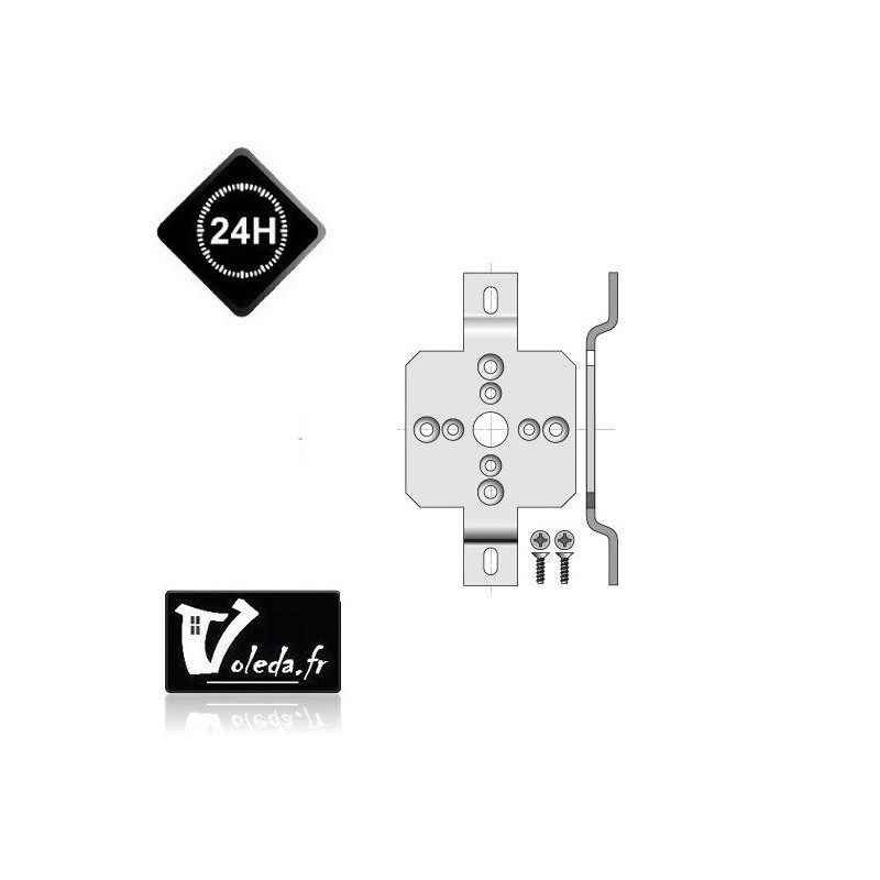 Support moteur Somfy Ls40 - caisson ZF