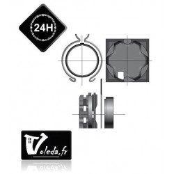 Support moteur Somfy LT50 - caisson ELKET à tiroir 68 ou 88 mm
