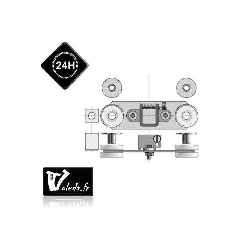 Support embout moteur Somfy - Anti-vibratoire