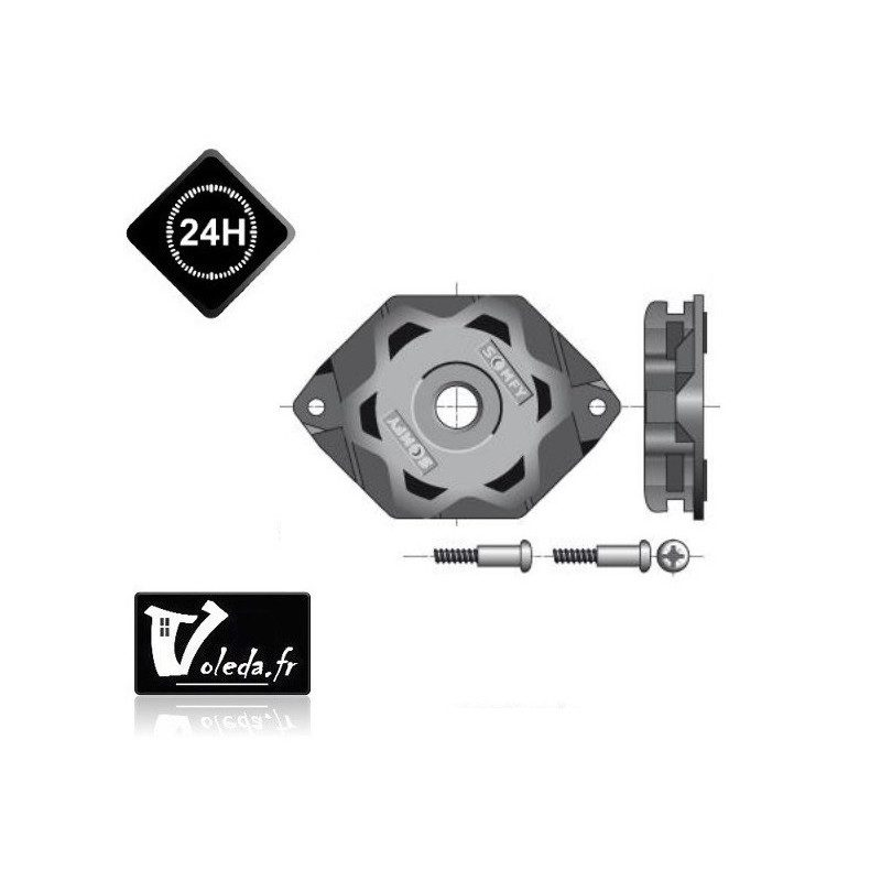 Support moteur Somfy etoile CSI LT50-LT60