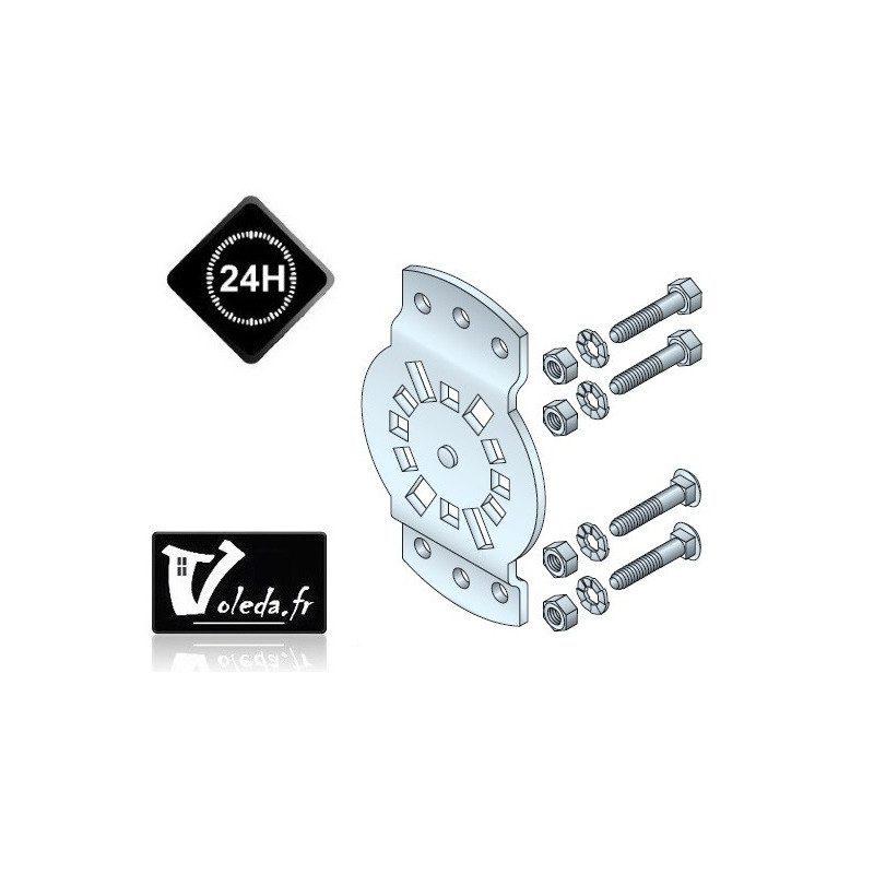 upport moteur Somfy CSI LT50/LT60 - entraxe 40 à 45 mm