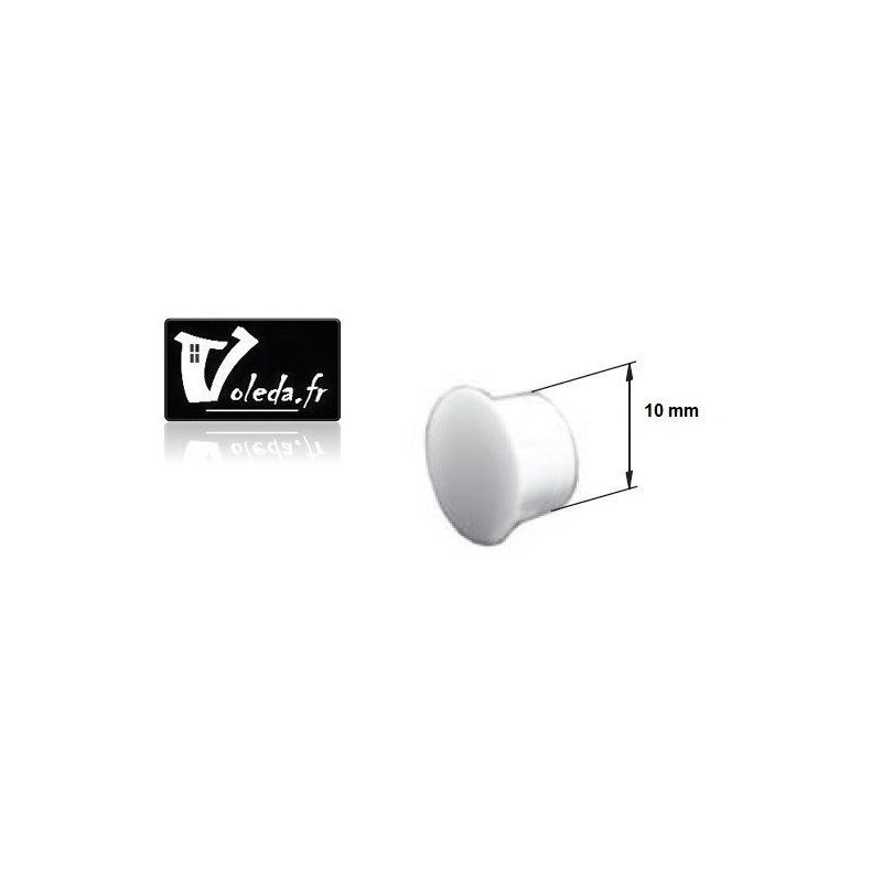 Bouchon PVC pour coulisse - 10 mm