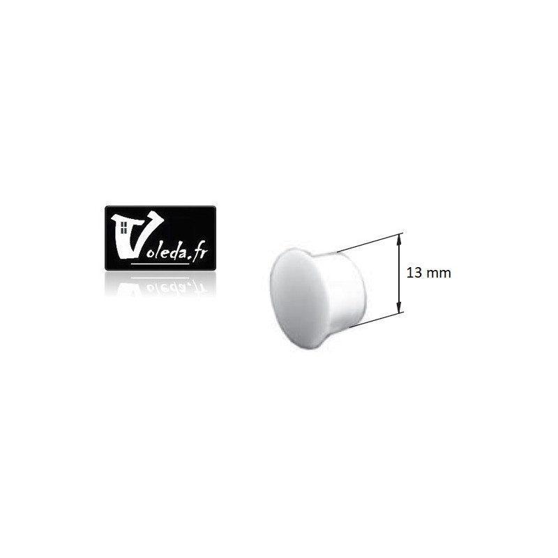 Bouchon PVC pour coulisse - 13 mm
