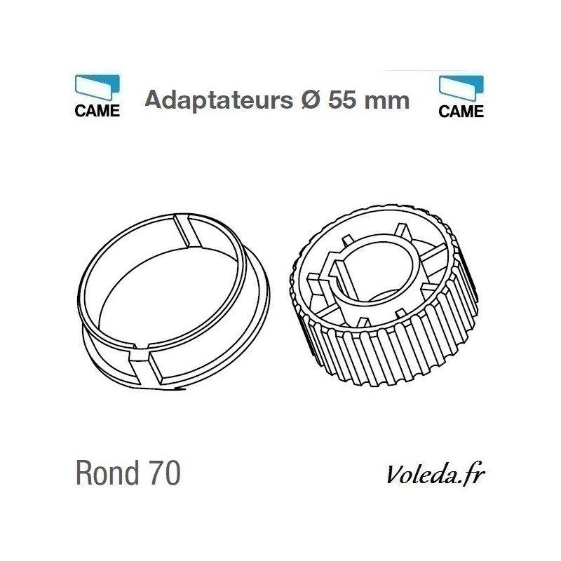 Bagues adaptation moteur Came 55 mm Rond 70