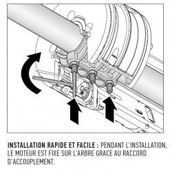 Double moteur Nice Giro Irreversible - Rideau metallique
