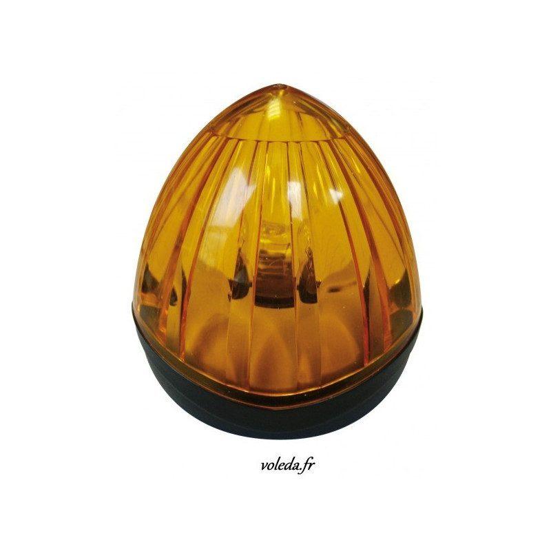 Feu de signalisation orange Simu Fixe 24V