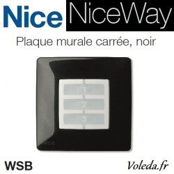 Plaque murale Nice Opla carré noir - emetteur NiceWay