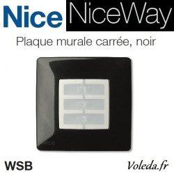 Plaque murale Nice Opla carré noir - emetteur NiceWay