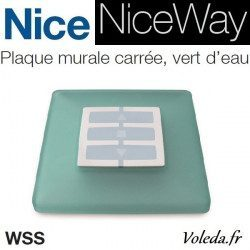 Plaque murale Nice Opla carré vert d'eau - emetteur NiceWay