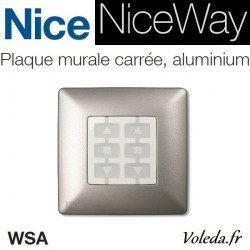 Plaque murale Nice Opla carré Aluminium - emetteur NiceWay