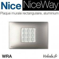 Plaque murale Nice Opla rectangulaire aluminium - emetteur NiceWay