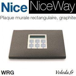 Plaque murale Nice Opla rectangulaire Graphite - emetteur NiceWay