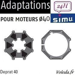 Bagues moteur volet roulant Simu T3.5 - Deprat 40