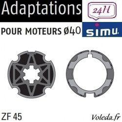 Bagues moteur volet roulant Simu T3.5 - ZF45