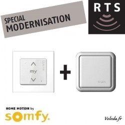 Telecommande Somfy Smoove + Recepteur Somfy Centralis RTS