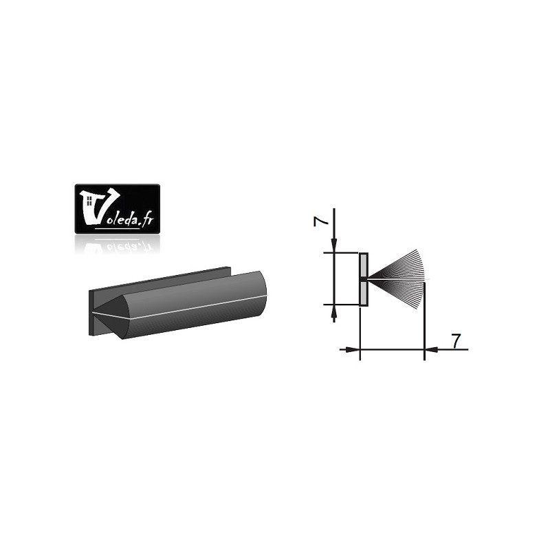 Joint coulisse volet roulant - brosse 7x7 mm avec film central
