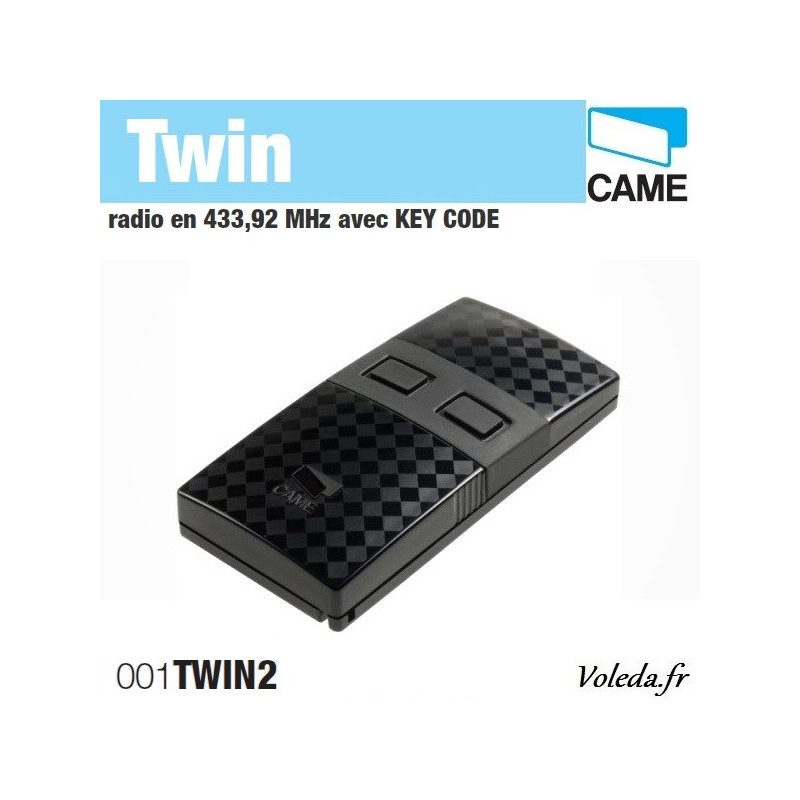 Telecommande Came Twin 2 canaux - Radio