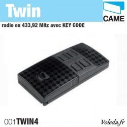 Telecommande Came Twin 4 canaux - Radio