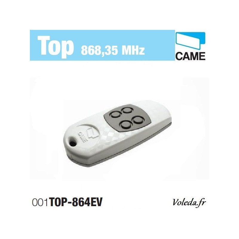Telecommande Came Top 4 canaux - Radio 868.35MHz