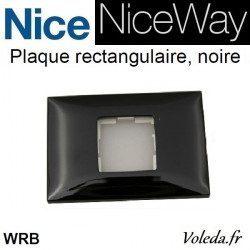 Plaque murale Nice Opla rectangulaire Noir - emetteur NiceWay