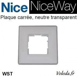 Plaque murale Nice Opla carré transparent - emetteur NiceWay