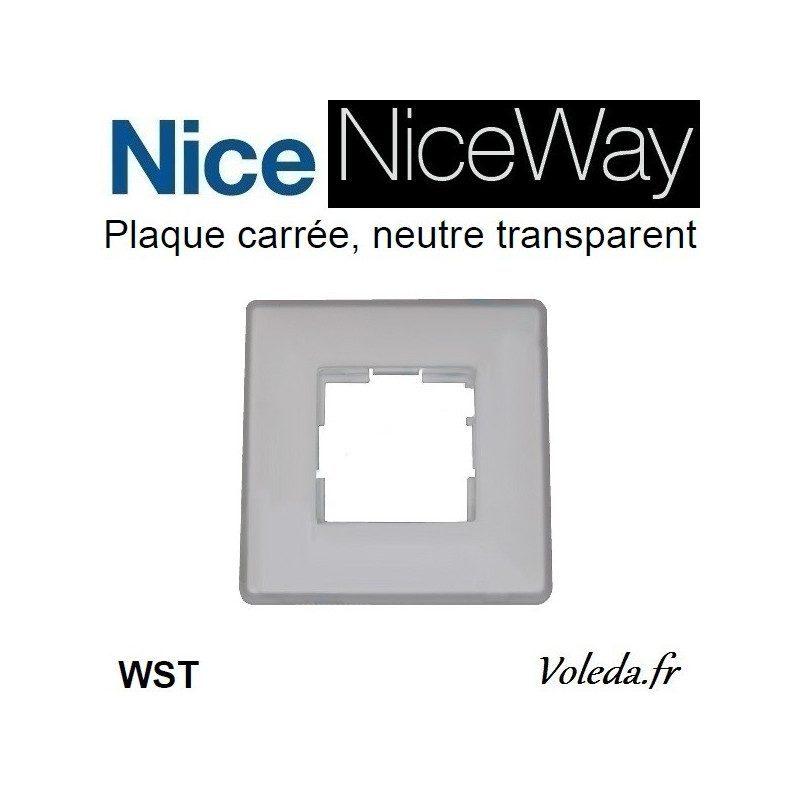 Plaque murale Nice Opla carré transparent - emetteur NiceWay