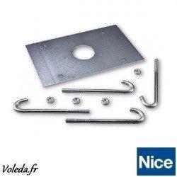 Platine d'ancrange pour barrière parking Nice