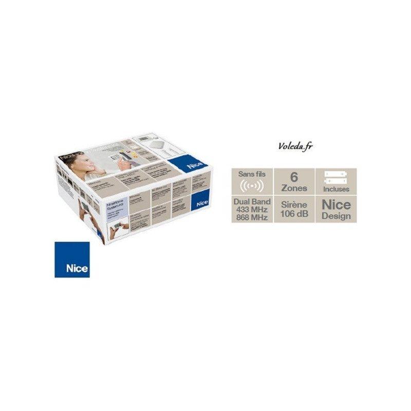 Kit Alarme sans fil Nice HSKIT2GCFR