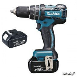Perceuse visseuse Makita à percussion 18V Li-Ion 4Ah  DHP480RMJ