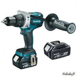 Perceuse visseuse Makita 18V Li-Ion 5Ah  DDF481RTE