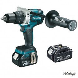 Perceuse visseuse Makita 18V Li-Ion 5Ah  DHP481RTE à percussion