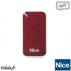Telecommande - Emetteur Nice Era Inti 2 canaux - Rouge