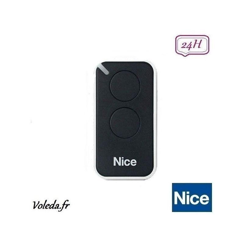 Telecommande - Emetteur Nice Era Inti 2 canaux - Noir