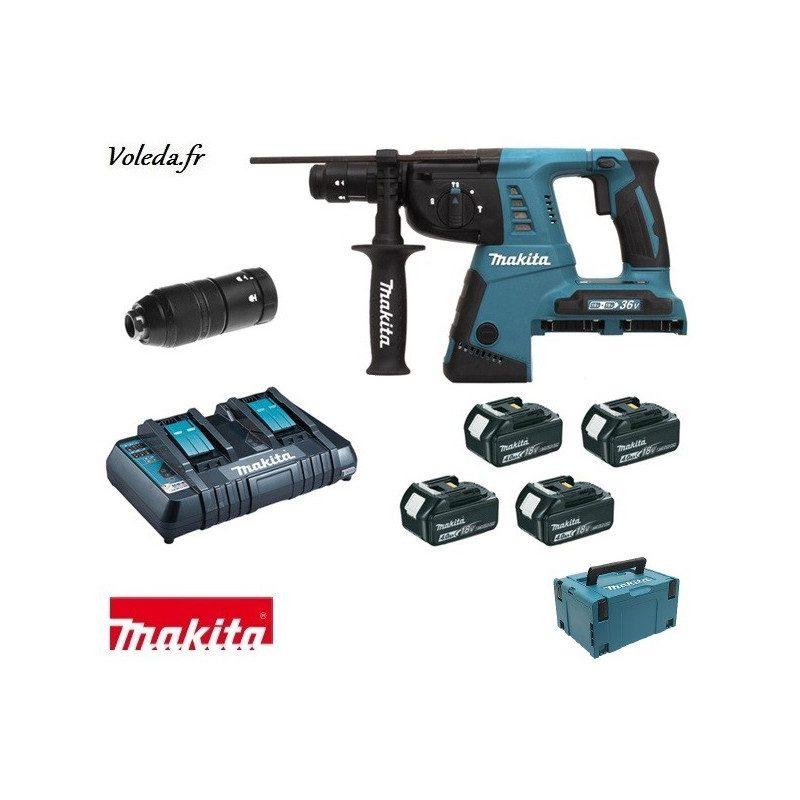Perforateur burineur Makita SDS-Plus 36 V - Makita DHR264PM4J