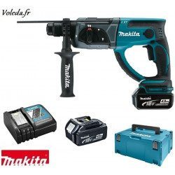 Perforateur burineur Makita SDS-Plus 18V Li-Ion 4Ah - Makita DHR202RMJ