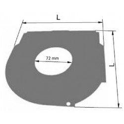 Contreplaque arrondie volet roulant - 150 mm