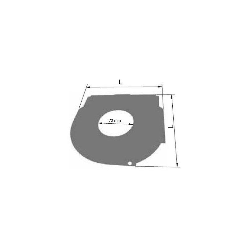 Contreplaque arrondie volet roulant - 205 mm